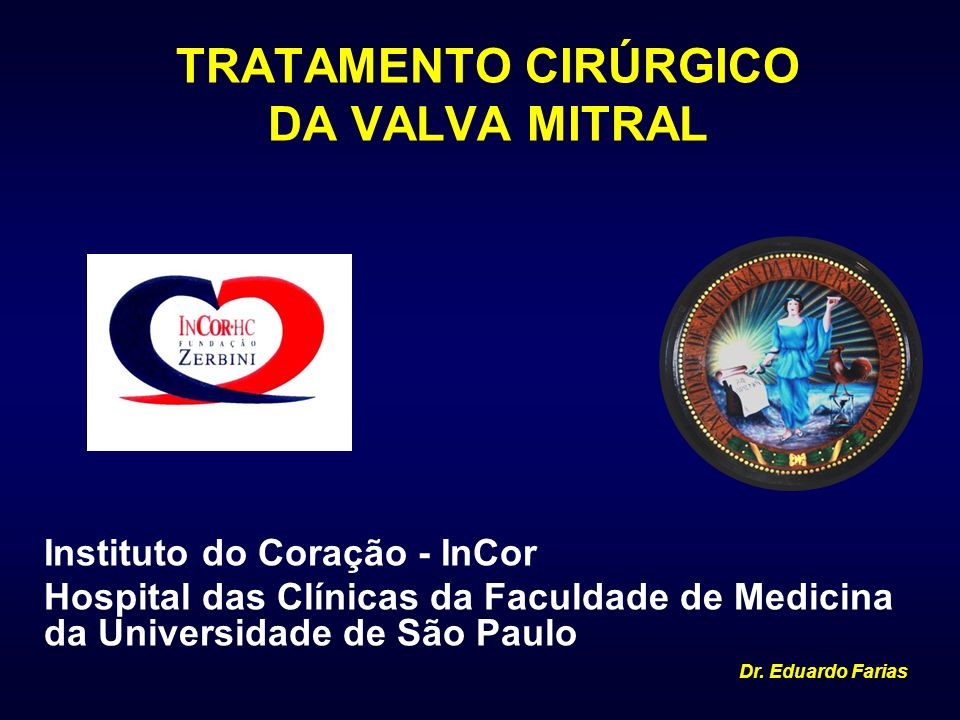 TRATAMENTO CIRÚRGICO DA VALVA MITRAL