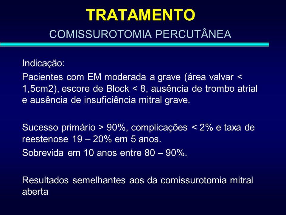 TRATAMENTO COMISSUROTOMIA PERCUTÂNEA Indicação: