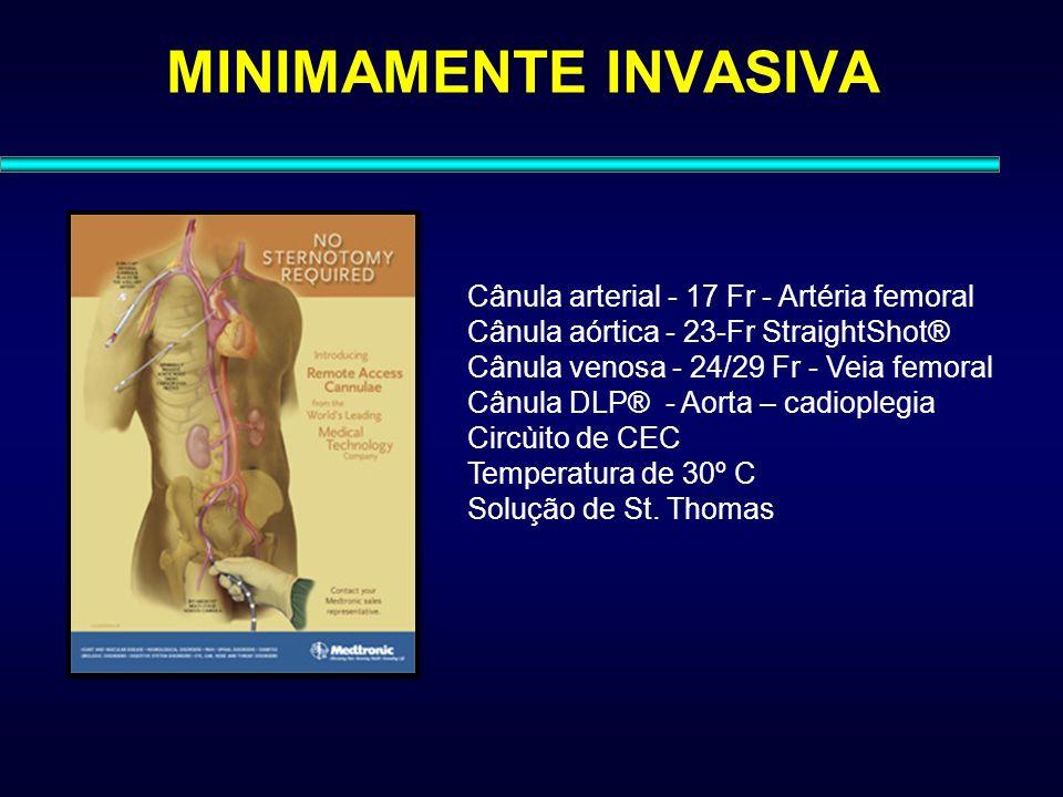 MINIMAMENTE INVASIVA Cânula arterial - 17 Fr - Artéria femoral