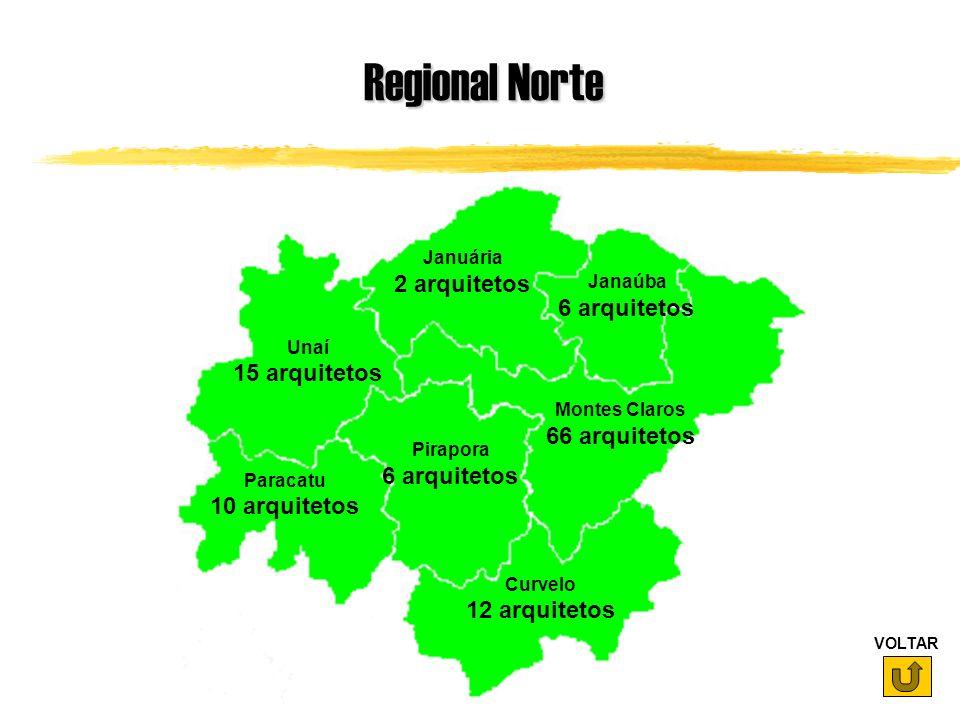 Regional Norte 2 arquitetos 6 arquitetos 15 arquitetos 66 arquitetos