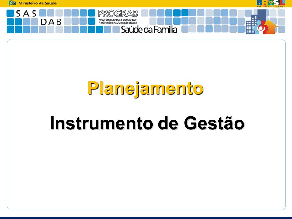 Planejamento Instrumento de Gestão