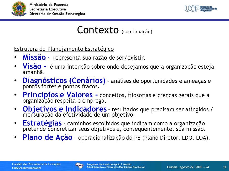Contexto (continuação)