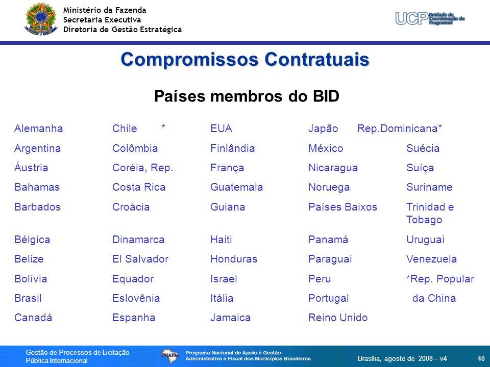 Compromissos Contratuais