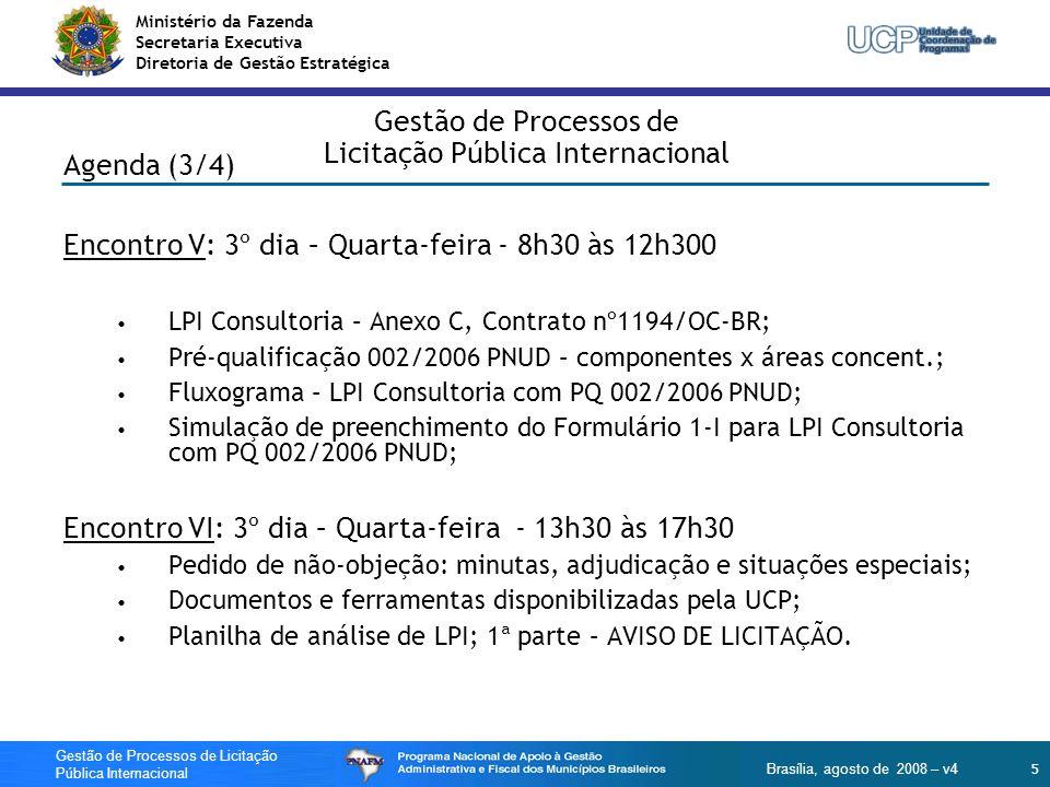 Gestão de Processos de Licitação Pública Internacional