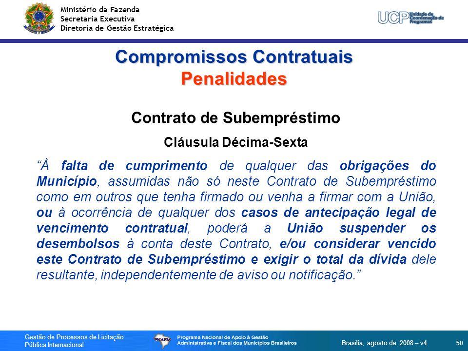 Compromissos Contratuais Penalidades