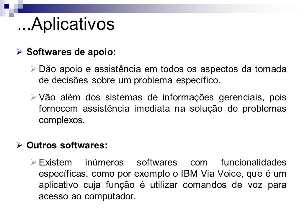 ...Aplicativos Softwares de apoio: