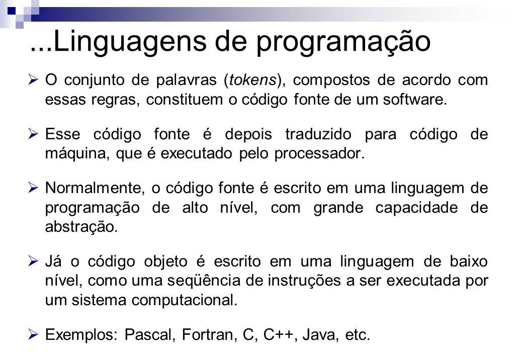 ...Linguagens de programação