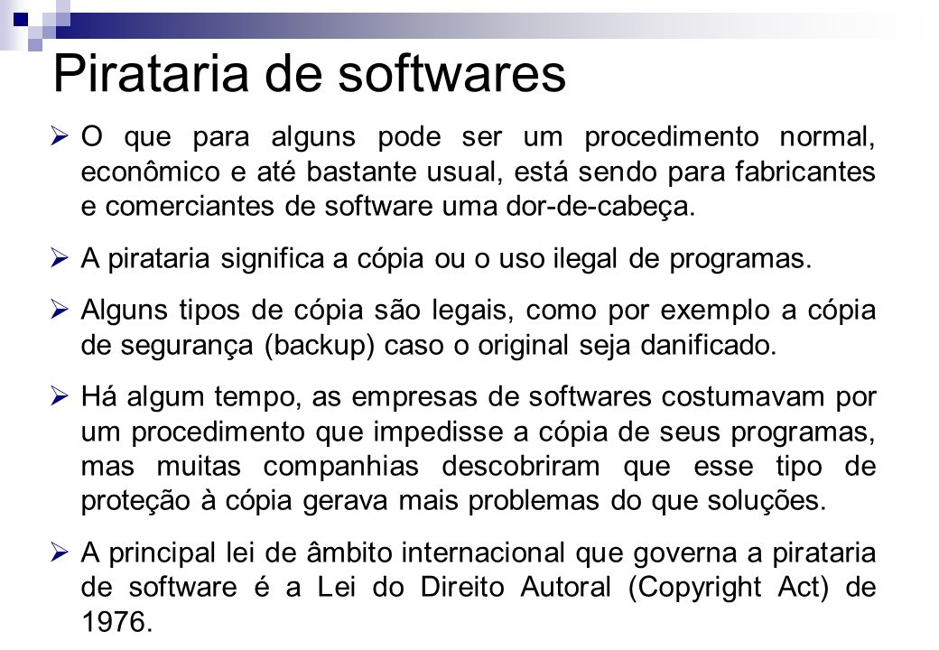 Pirataria de softwares