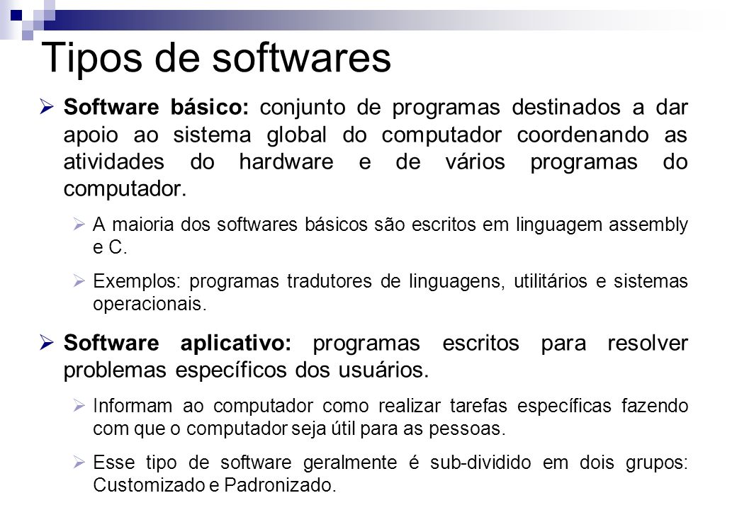 Tipos de softwares