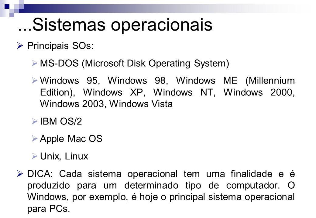 ...Sistemas operacionais