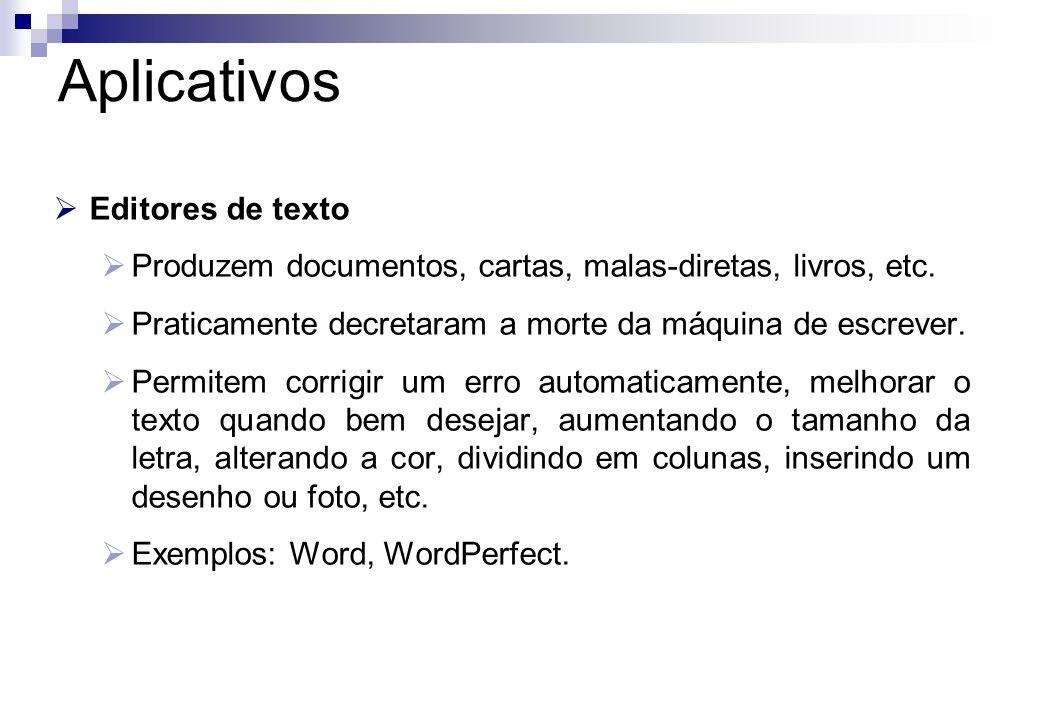 Aplicativos Editores de texto