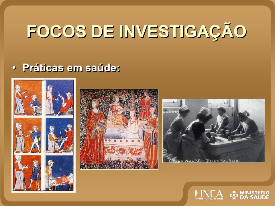 FOCOS DE INVESTIGAÇÃO Práticas em saúde: