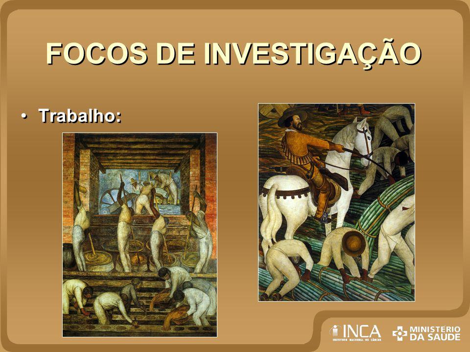 FOCOS DE INVESTIGAÇÃO Trabalho: