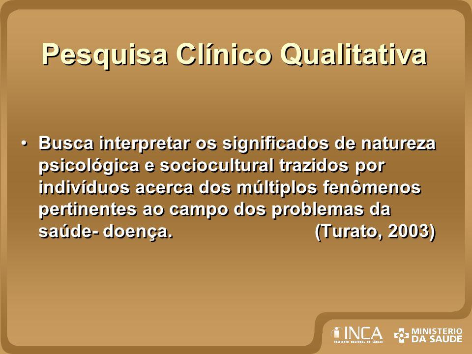 Pesquisa Clínico Qualitativa