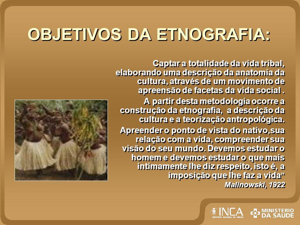 OBJETIVOS DA ETNOGRAFIA: