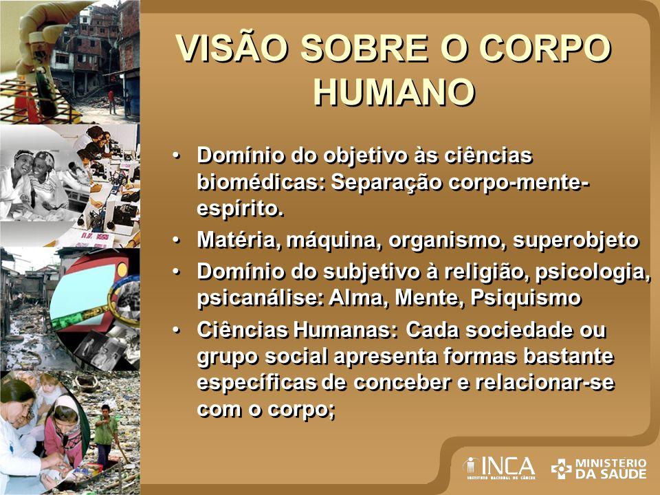 VISÃO SOBRE O CORPO HUMANO