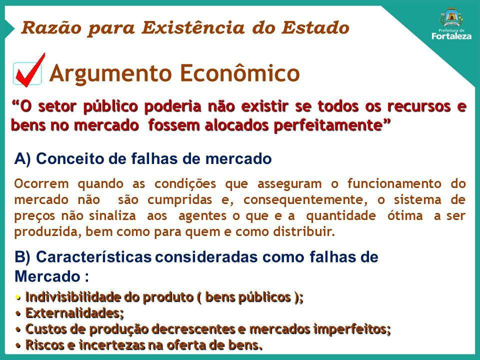 Argumento Econômico Razão para Existência do Estado