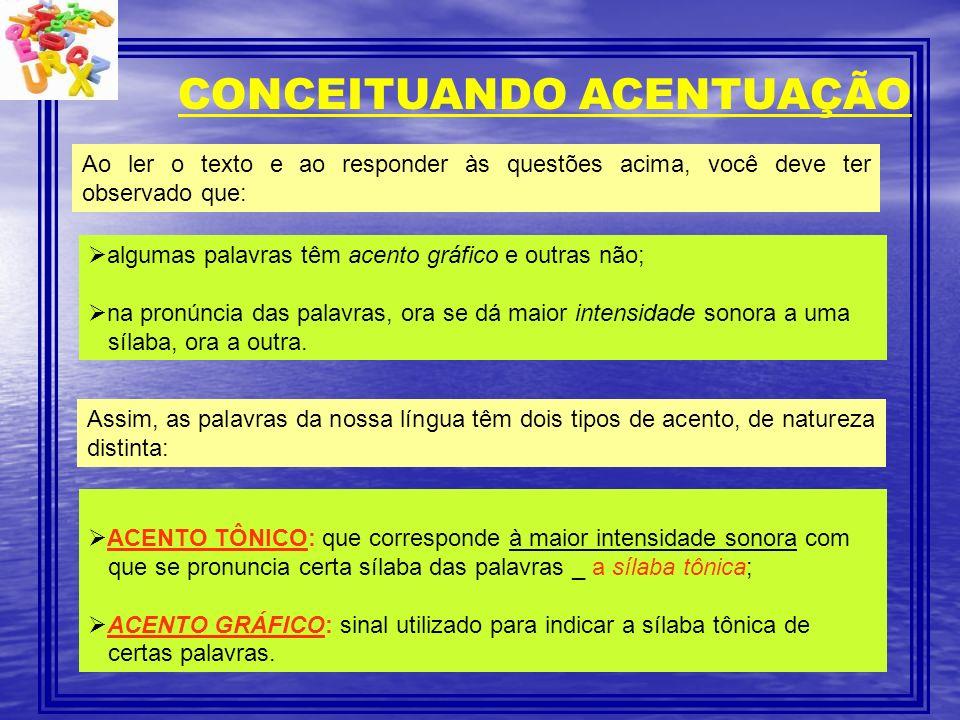 CONCEITUANDO ACENTUAÇÃO