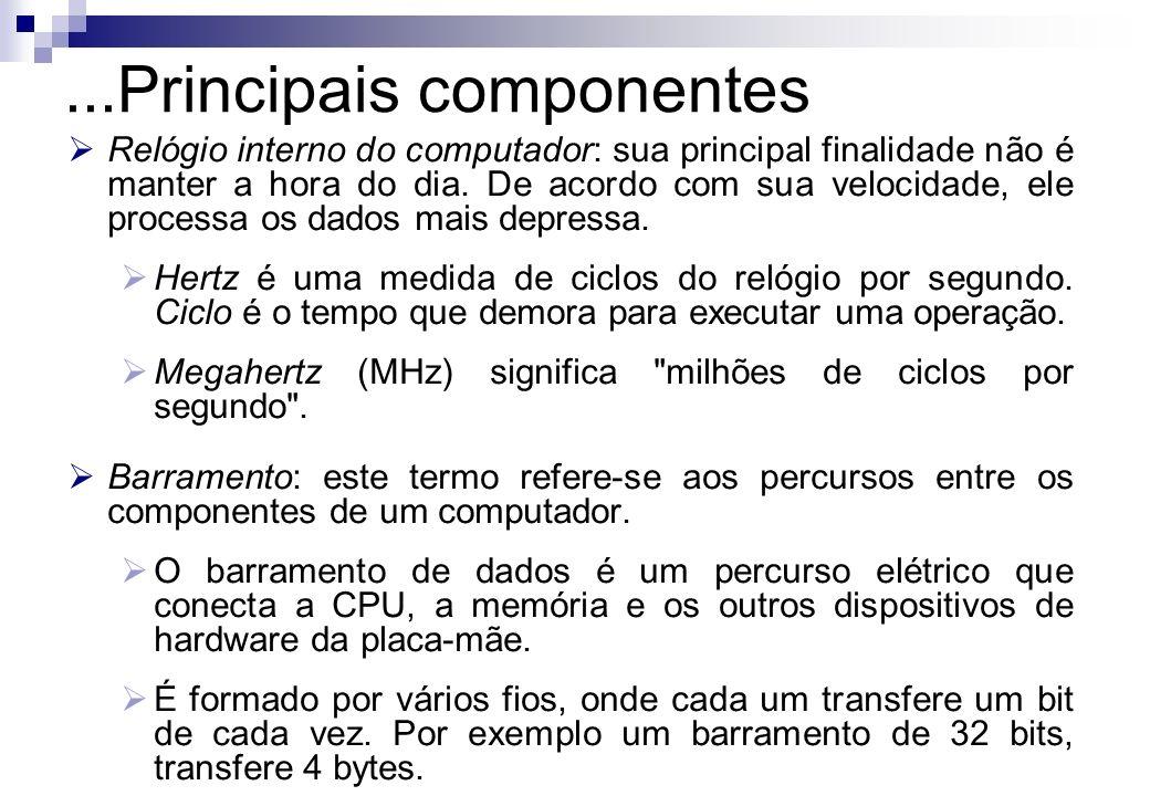 ...Principais componentes