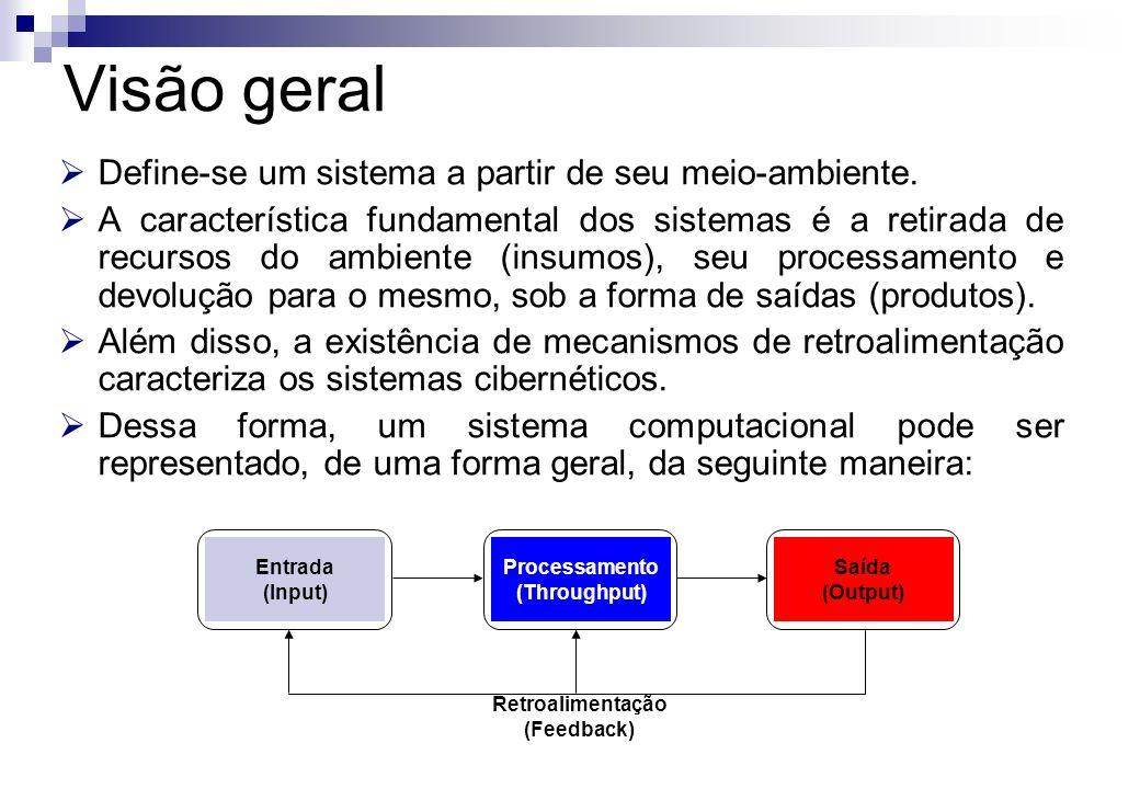 Visão geral Define-se um sistema a partir de seu meio-ambiente.