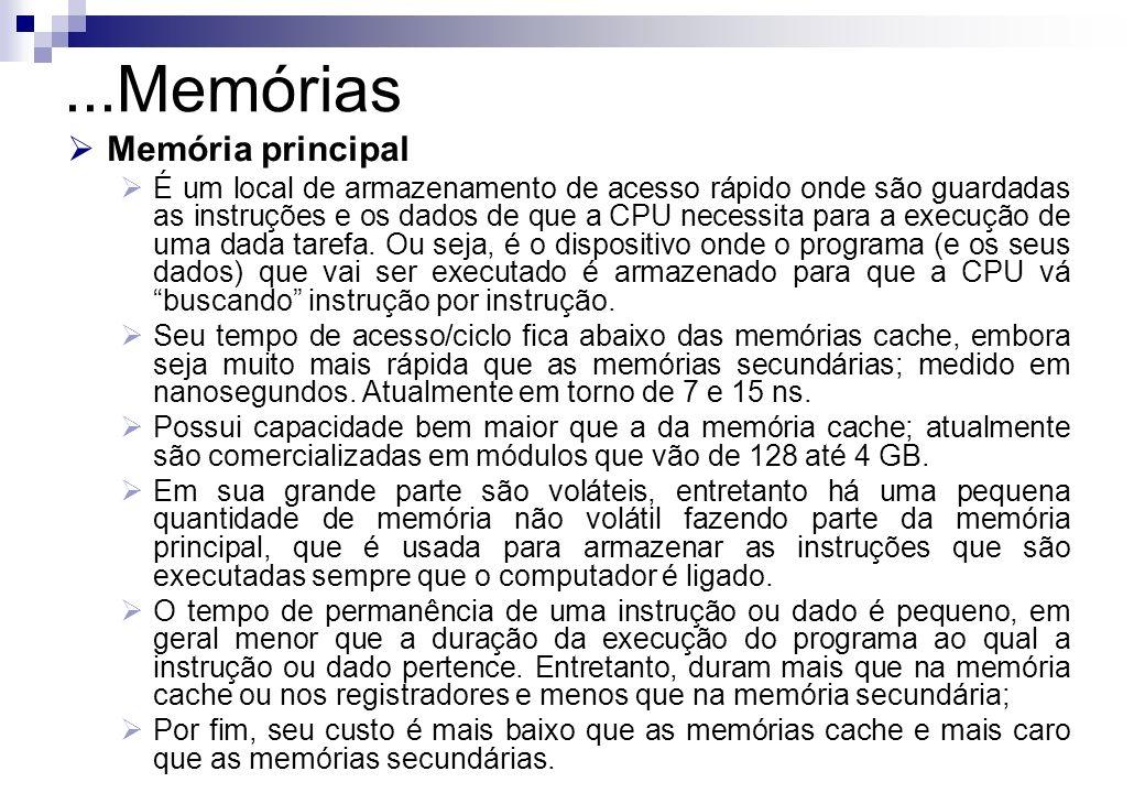 ...Memórias Memória principal