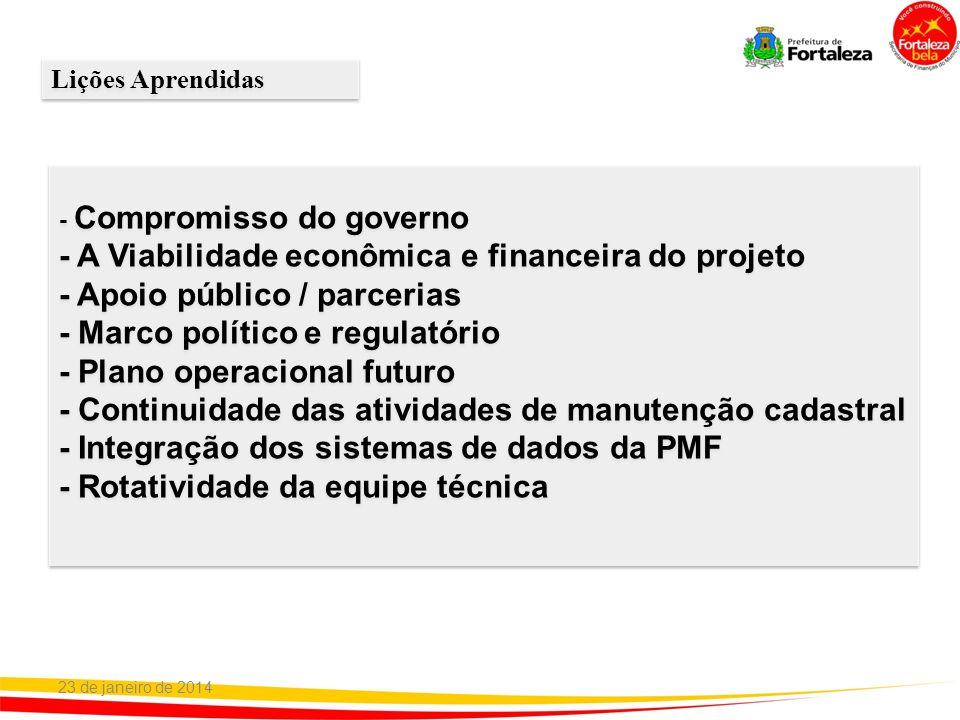 - A Viabilidade econômica e financeira do projeto