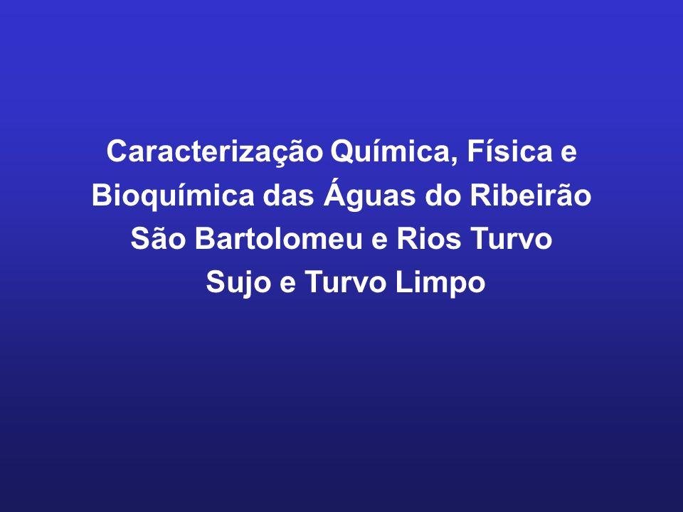 Caracterização Química, Física e Bioquímica das Águas do Ribeirão