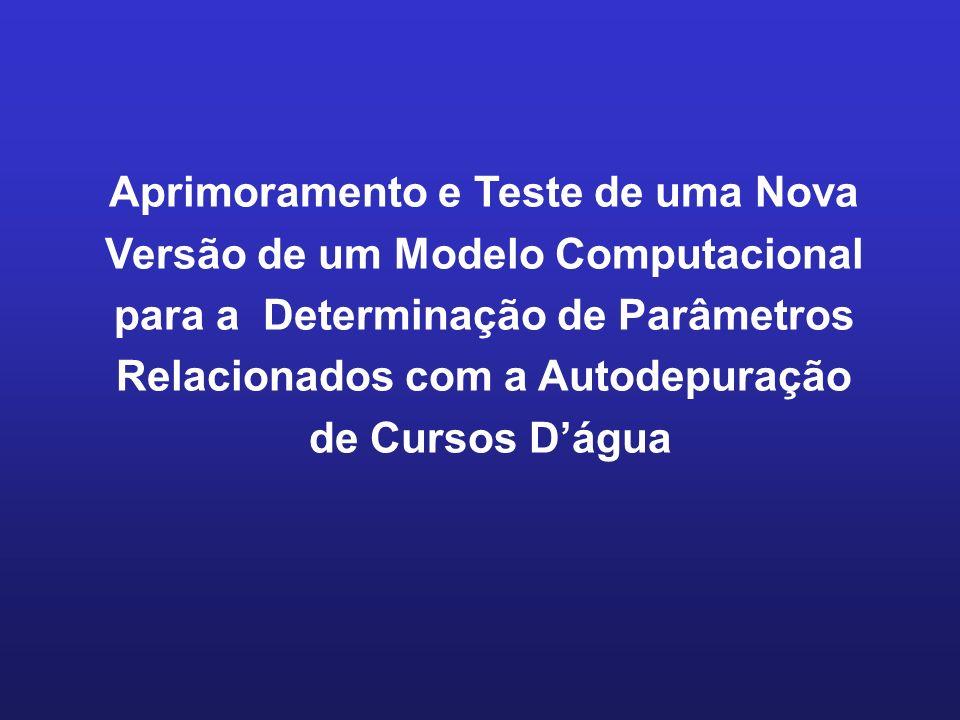 Aprimoramento e Teste de uma Nova Versão de um Modelo Computacional para a Determinação de Parâmetros Relacionados com a Autodepuração
