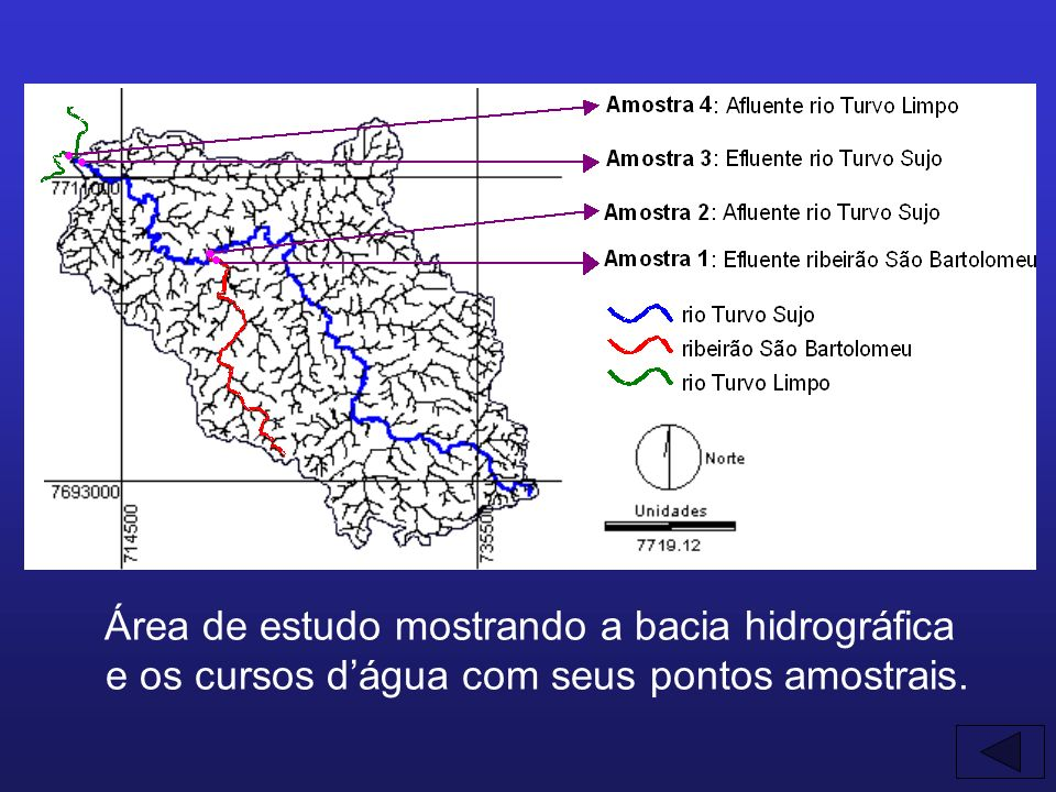 Área de estudo mostrando a bacia hidrográfica