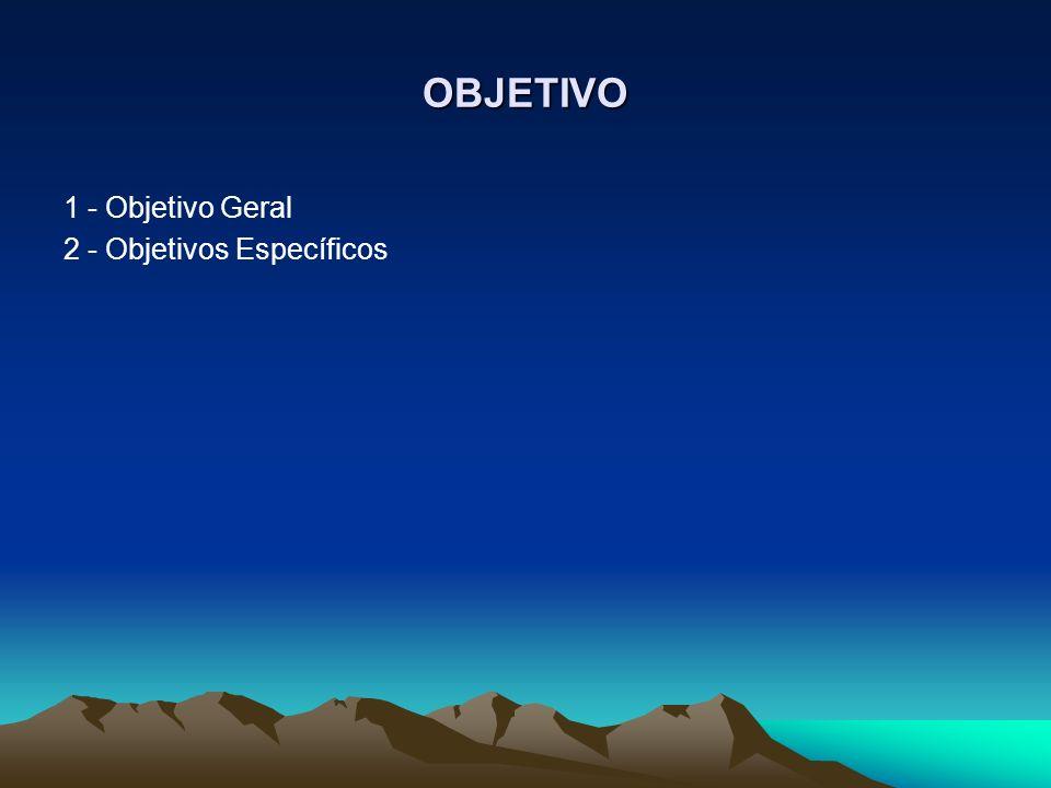 OBJETIVO 1 - Objetivo Geral 2 - Objetivos Específicos