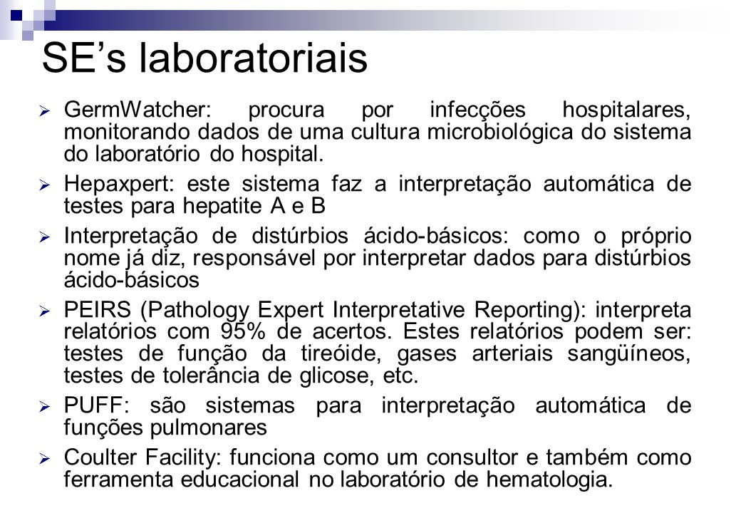SE's laboratoriais