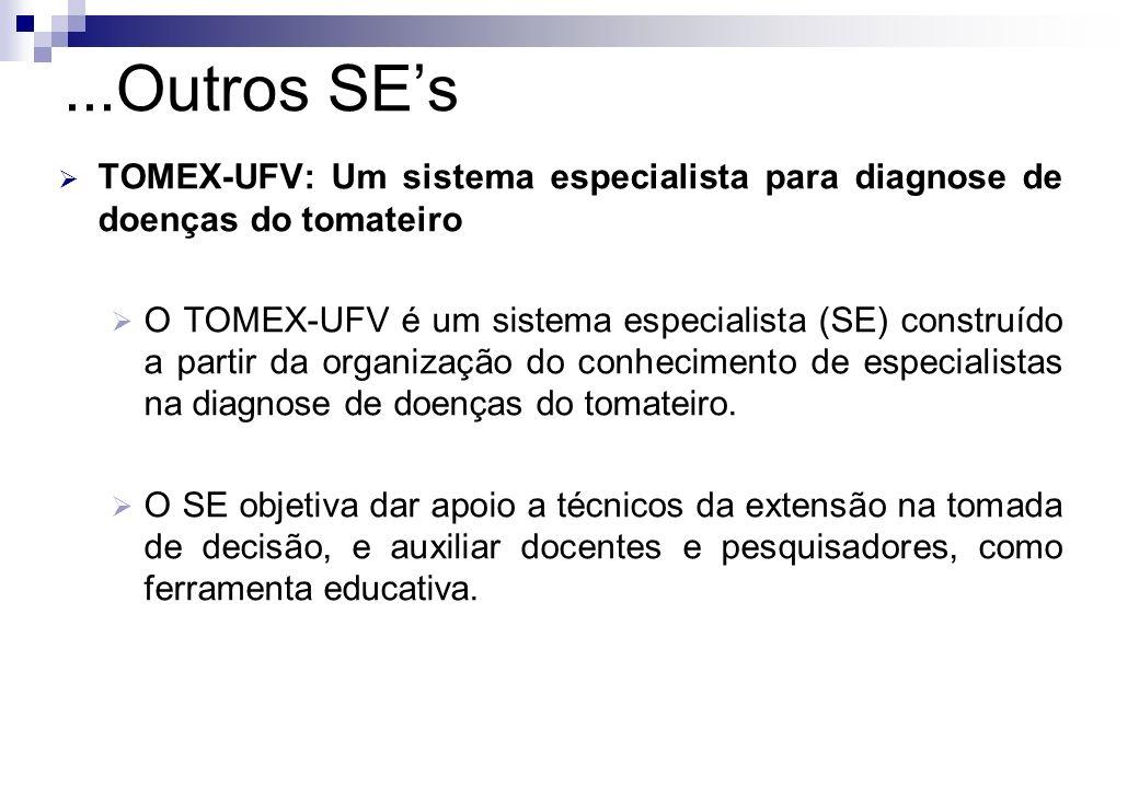 ...Outros SE's TOMEX-UFV: Um sistema especialista para diagnose de doenças do tomateiro.