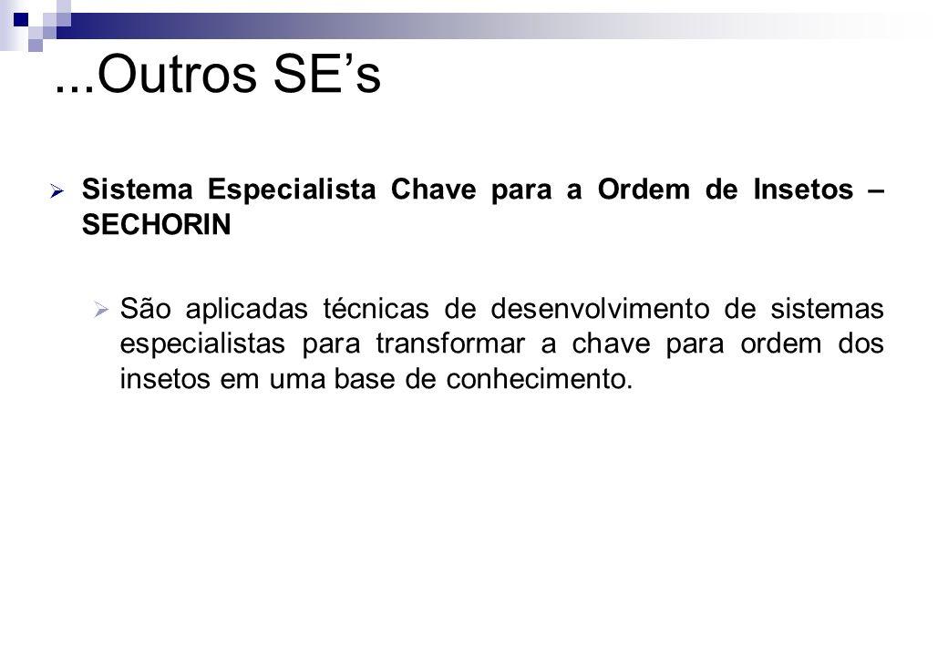 ...Outros SE'sSistema Especialista Chave para a Ordem de Insetos – SECHORIN.