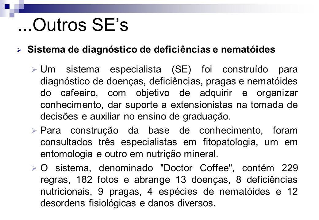 ...Outros SE's Sistema de diagnóstico de deficiências e nematóides