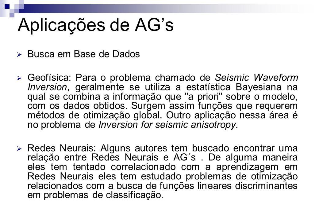Aplicações de AG's Busca em Base de Dados