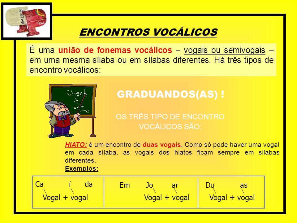 OS TRÊS TIPO DE ENCONTRO