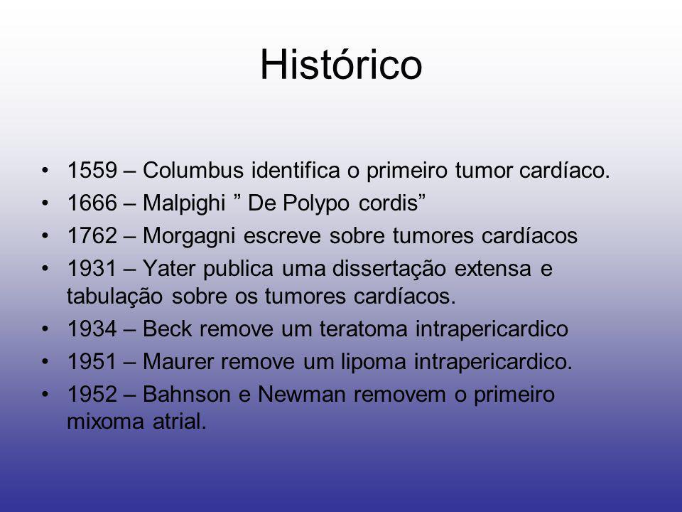 Histórico 1559 – Columbus identifica o primeiro tumor cardíaco.