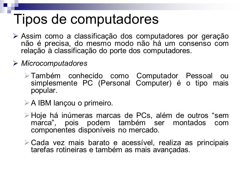 Tipos de computadores