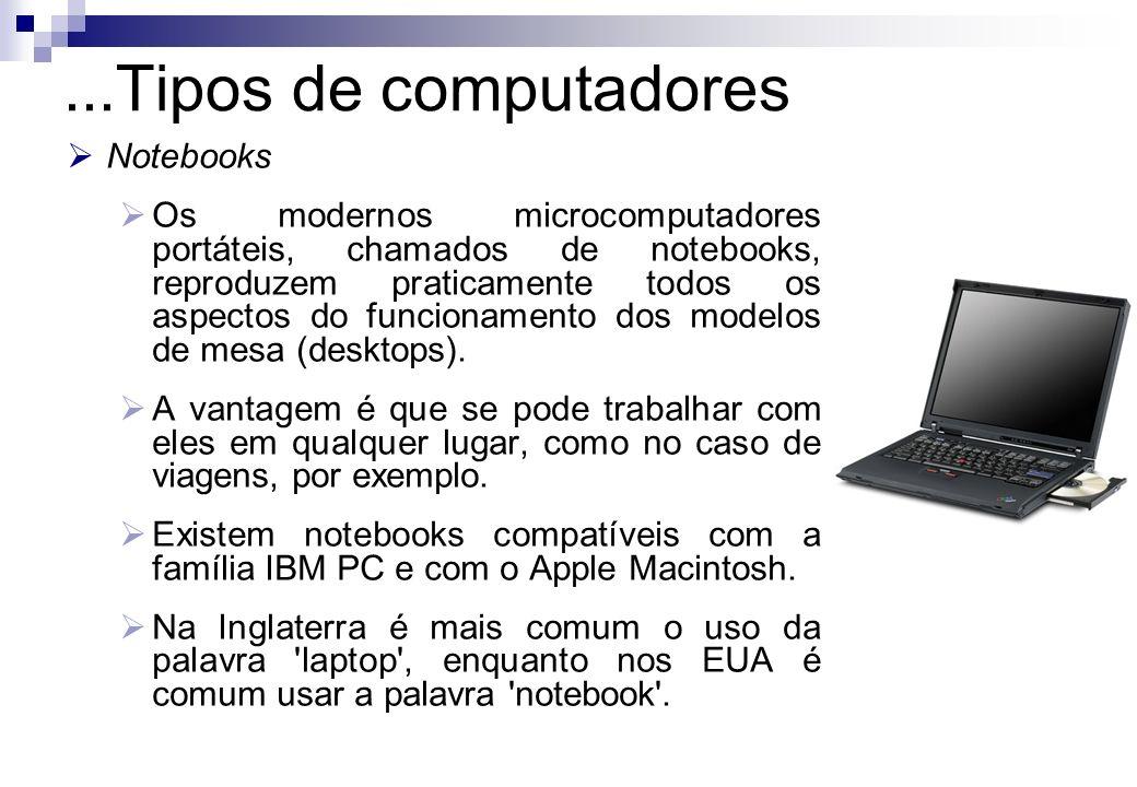 ...Tipos de computadores Notebooks