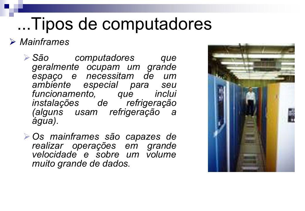 ...Tipos de computadores Mainframes
