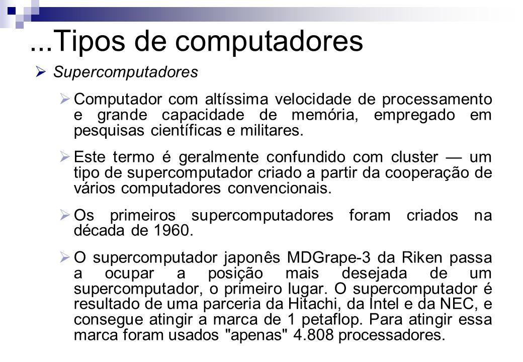 ...Tipos de computadores Supercomputadores