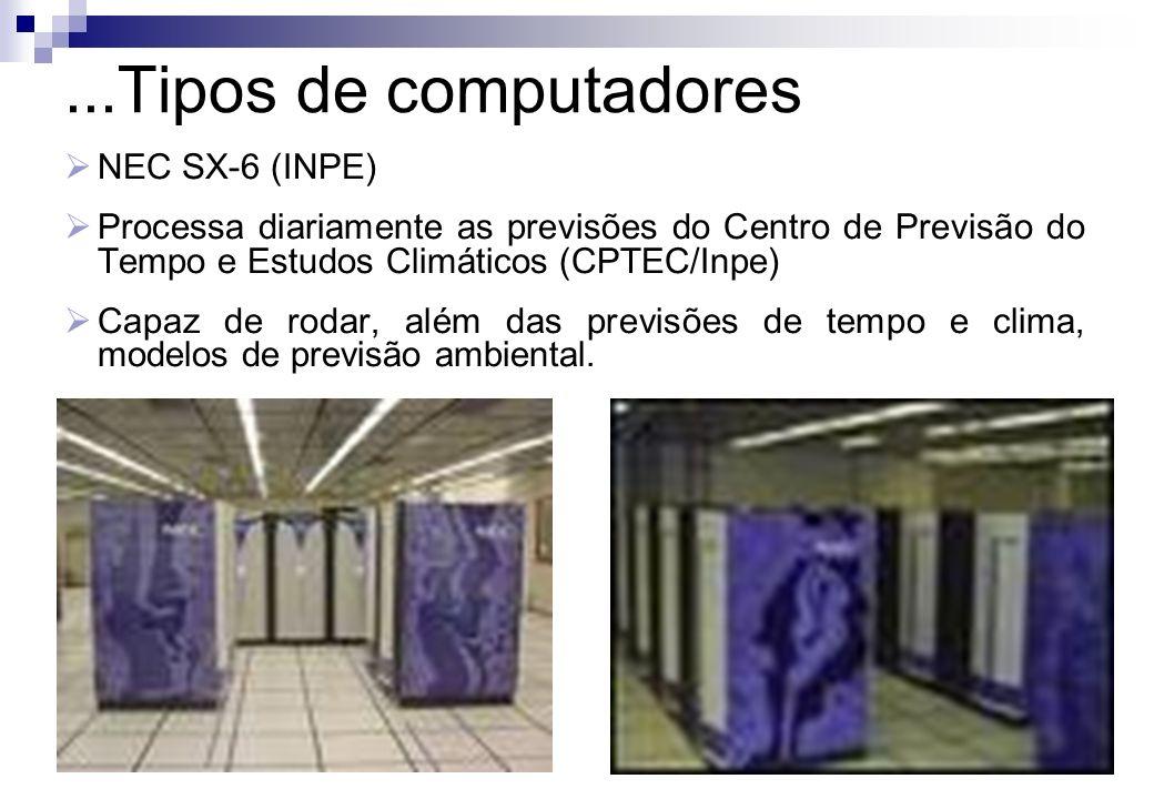 ...Tipos de computadores NEC SX-6 (INPE)
