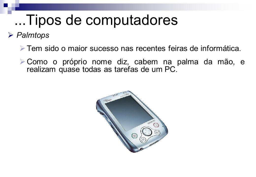 ...Tipos de computadores Palmtops