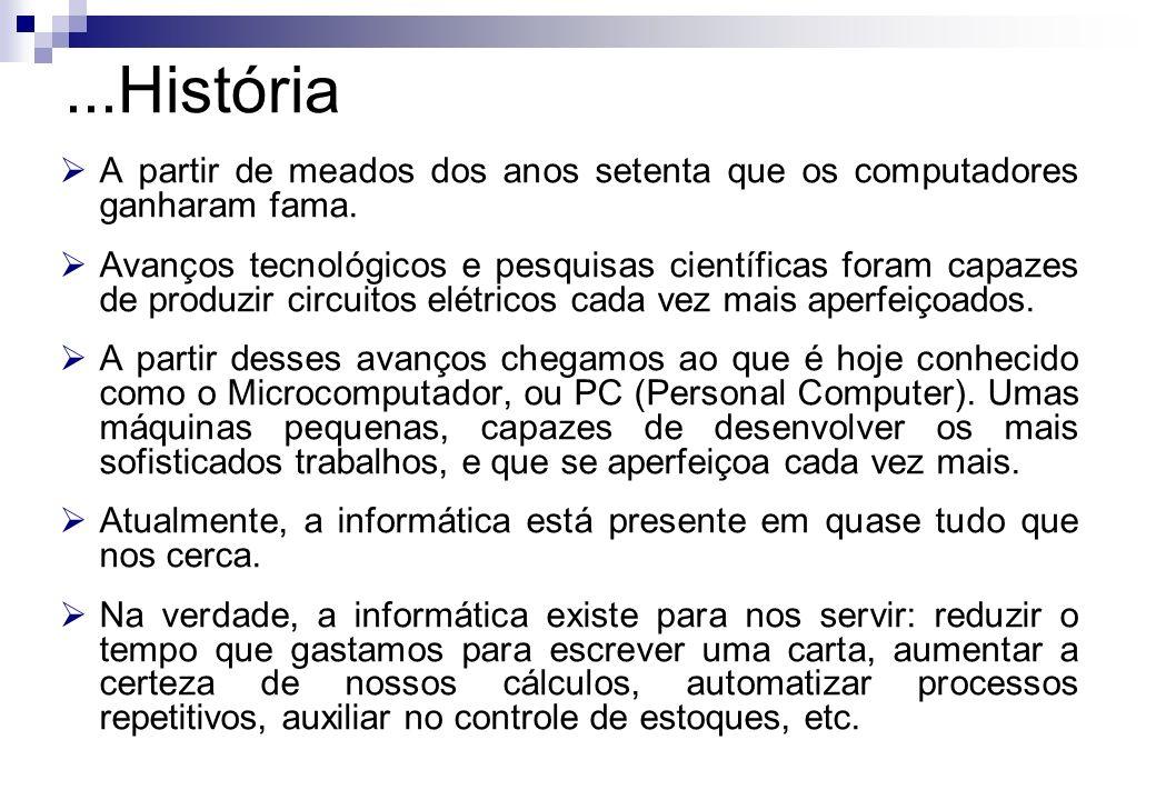 ...HistóriaA partir de meados dos anos setenta que os computadores ganharam fama.