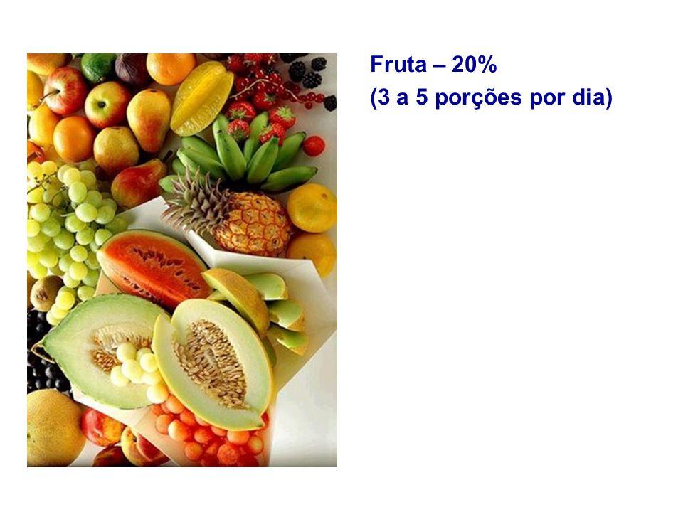 Fruta – 20% (3 a 5 porções por dia)