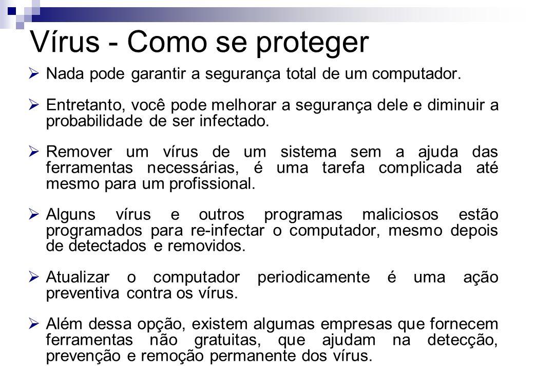 Vírus - Como se proteger