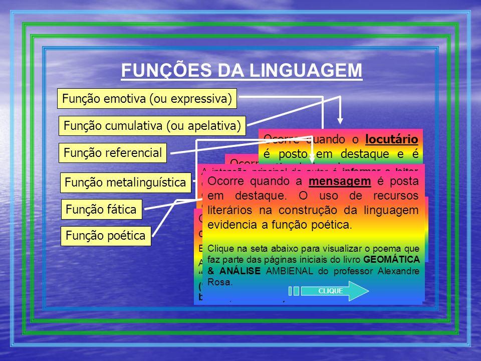 FUNÇÕES DA LINGUAGEM Função emotiva (ou expressiva)