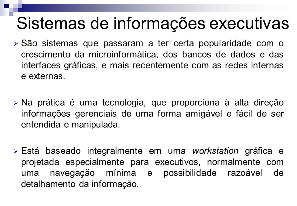 Sistemas de informações executivas