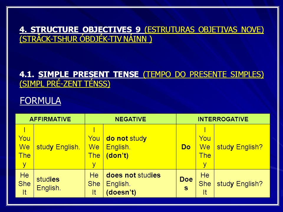 4. STRUCTURE OBJECTIVES 9 (ESTRUTURAS OBJETIVAS NOVE) (STRÂCK-TSHUR ÓBDJÉK-TIV NÁINN )
