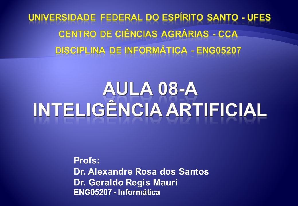 Aula 08-a Inteligência artificial